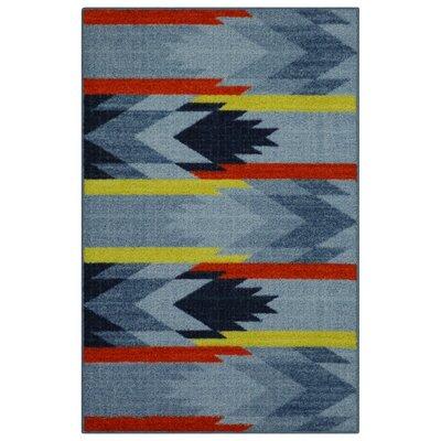 Shane Blue/Orange Area Rug Rug Size: 26 x 310
