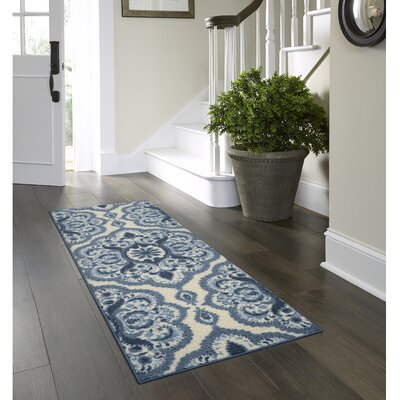 Fiona Blue Area Rug Rug Size: Runner 2 x 6