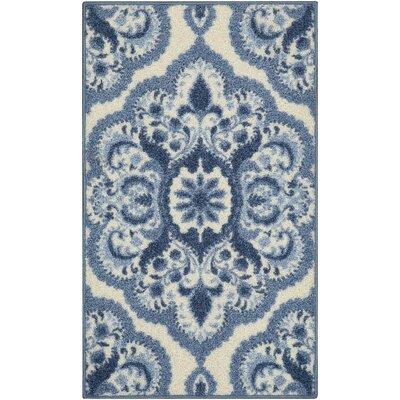 Fiona Blue Area Rug Rug Size: 18 x 210