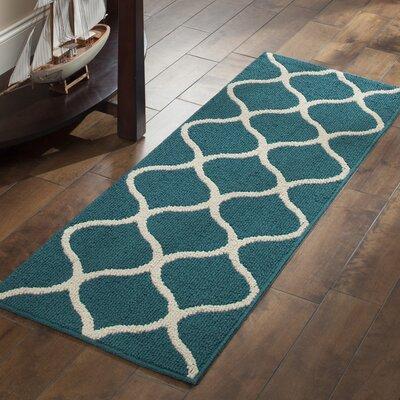 Carissa Blue Area Rug Rug Size: Runner 19 x 5