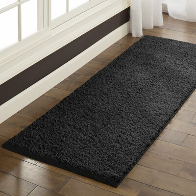 Claire Black Area Rug Rug Size: Runner 2 x 6
