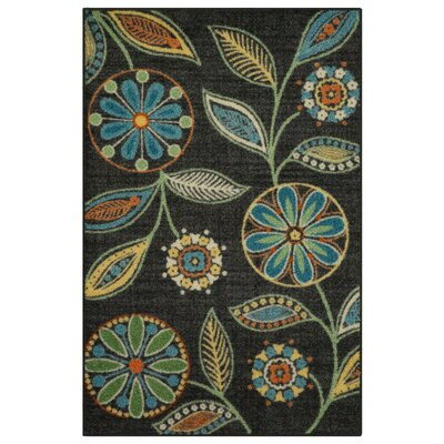 Nova Dark Green/Blue Area Rug Rug Size: 26 x 310