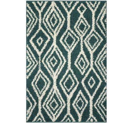 Selena Green/White Area Rug Rug Size: 26 x 310
