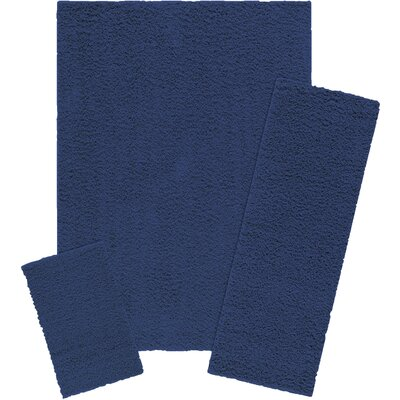 Claire 3 Piece Navy Area Rug Set