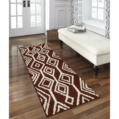 Selena Red Area Rug Rug Size: Runner 2 x 6