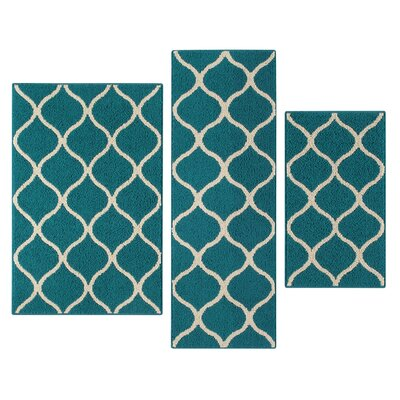 Hershman Teal Indoor Area Rug