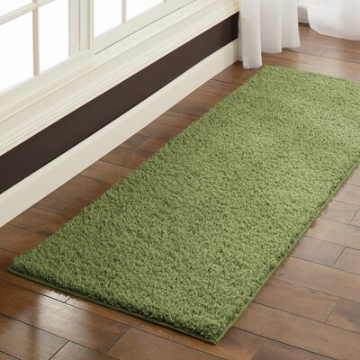 Claire  Moss Green Area Rug Rug Size: Runner 2 x 6
