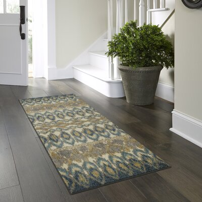Thea Blue Area Rug Rug Size: Runner 2 x 6