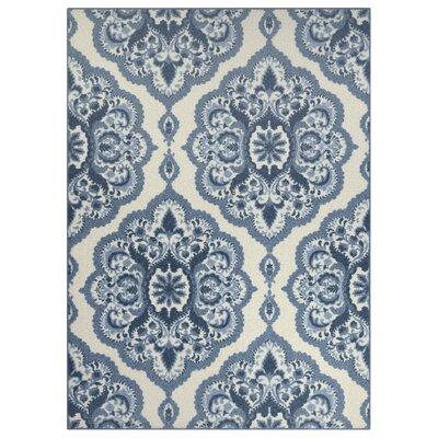 Fiona Blue Area Rug Rug Size: 5 x 7