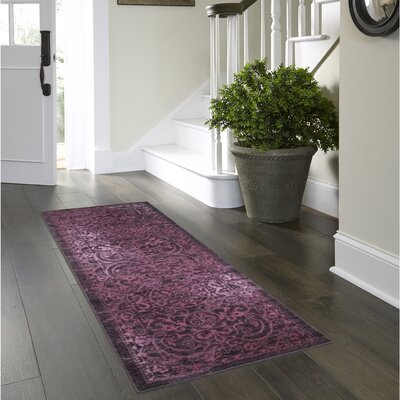 Landen Purple Area Rug Rug Size: Runner 2 x 6