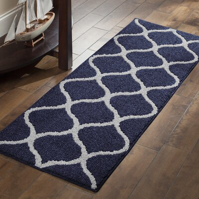 Carissa Blue Area Rug Rug Size: Runner 19 x 5