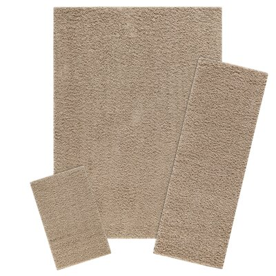 Aviles 3 Piece Maverick Brown Area Rug Set