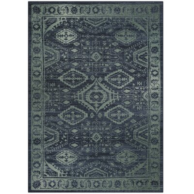 Filip Blue/Green Area Rug Rug Size: 5 x 7
