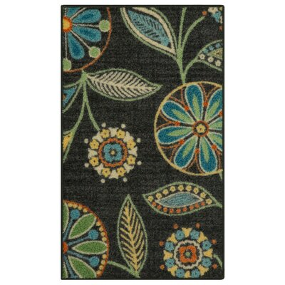 Nova Dark Green/Blue Area Rug Rug Size: 18 x 210