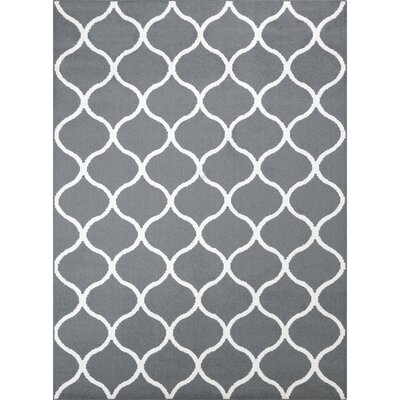 Hershman Gray Area Rug Rug Size: Rectangle 7 x 10