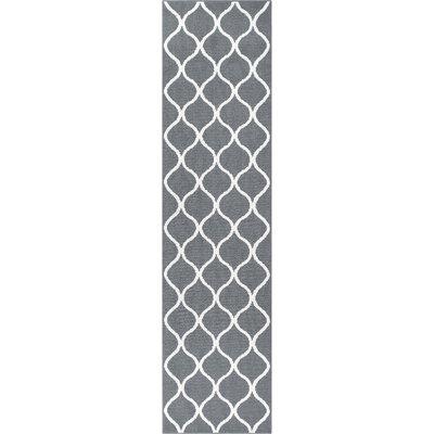 Hershman Gray Area Rug Rug Size: Runner 26 x 10