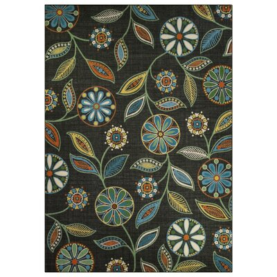 Nova Dark Green/Blue Area Rug Rug Size: 7 x 10