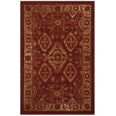 Jenny Red Area Rug Rug Size: 26 x 310