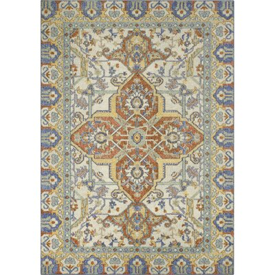 Bellamy Blue/Orange Area Rug Rug Size: 5 x 7