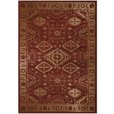Filip Red Area Rug Rug Size: 5 x 7