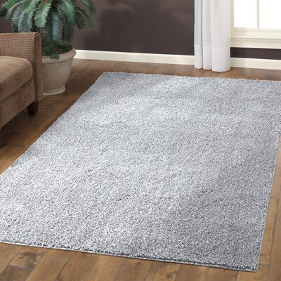 Claire Soft Silver Area Rug Rug Size: 5 x 7