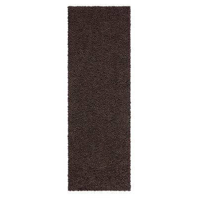 Aviles Brown Suede Area Rug Rug Size: Runner 2 x 6