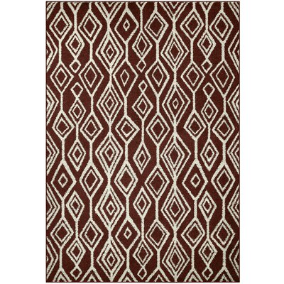 Selena Red Area Rug Rug Size: 7 x 10