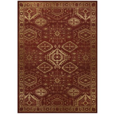 Filip Red Area Rug Rug Size: 7 x 10