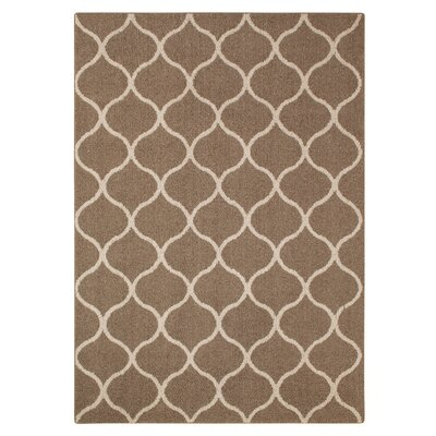 Carissa Brown Area Rug Rug Size: 5 x 7