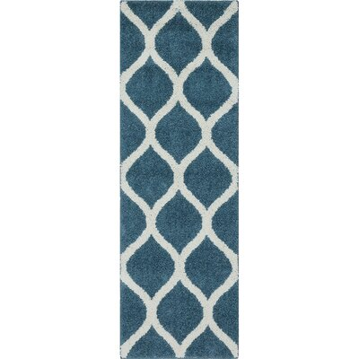 Hersom Overcast Blue Area Rug Rug Size: 7 x 10