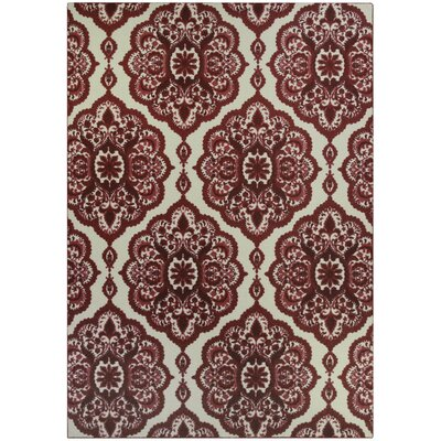 Hertel Red Area Rug Rug Size: 7 x 10