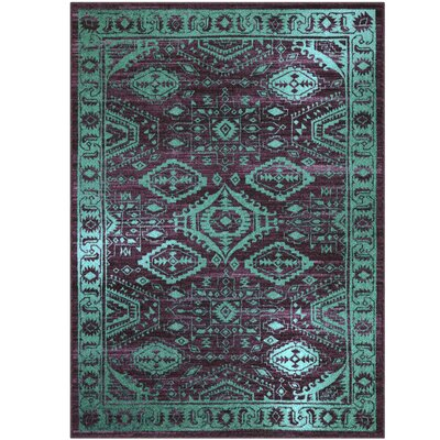 Jenny Teal Area Rug Rug Size: 5 x 7
