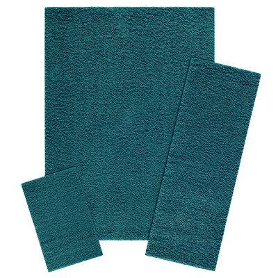 Aviles 3 Piece Teal Quartz Area Rug Set