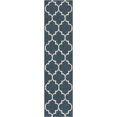 Herron Blue Area Rug Rug Size: Runner 26 x 10