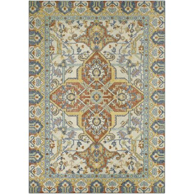 Bellamy Blue/Orange Area Rug Rug Size: 7 x 10
