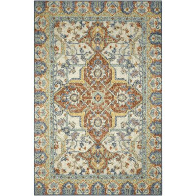 Bellamy Blue/Orange Area Rug Rug Size: 18 x 210
