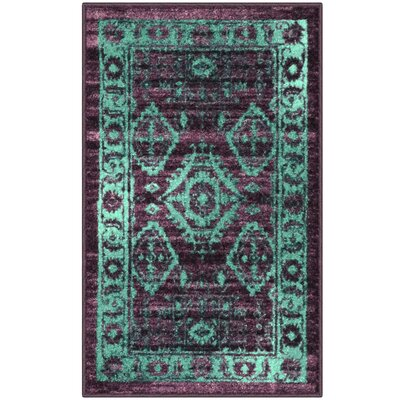 Jenny Teal Area Rug Rug Size: 18 x 210