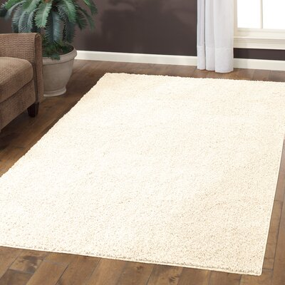 Claire Cream Area Rug Rug Size: 5 x 7