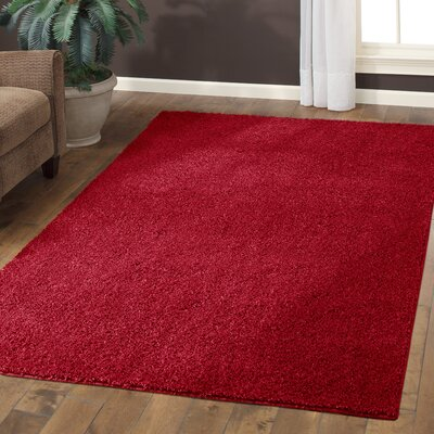 Claire Autumn Red Area Rug Rug Size: 5 x 7
