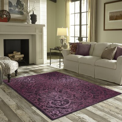 Hudson Purple Area Rug Rug Size: 26 x 310