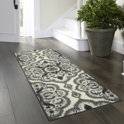 Fiona Gray Area Rug Rug Size: Runner 2 x 6