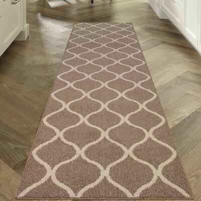 Carissa Brown Area Rug Rug Size: Runner 26 x 10