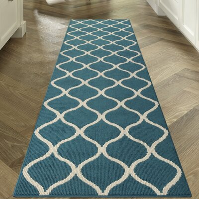 Carissa Blue Area Rug Rug Size: Runner 26 x 10