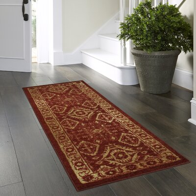 Jenny Red Area Rug Rug Size: Runner 2 x 6