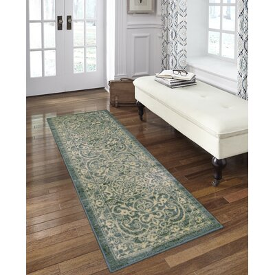Hudson Light Spa Area Rug Rug Size: Runner 2 x 6
