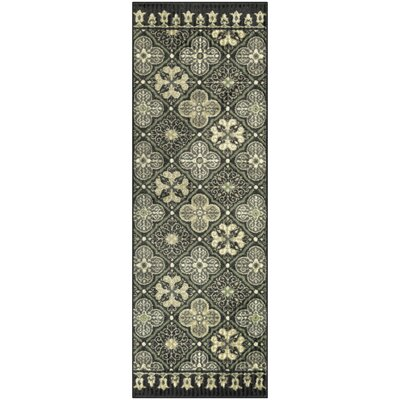Landen Traditional Gray Area Rug Rug Size: Runner 2 x 6