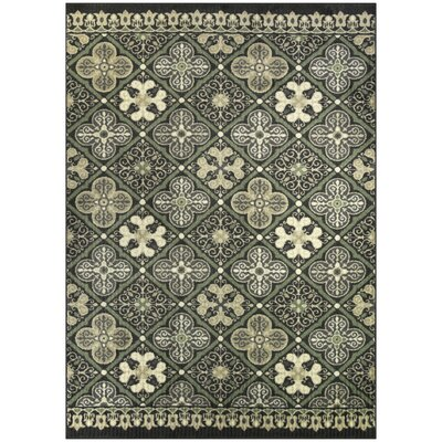 Landen Traditional Gray Area Rug Rug Size: 5 x 7