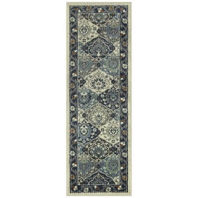 Langport Cream/Gray Area Rug Rug Size: Runner 2 x 6