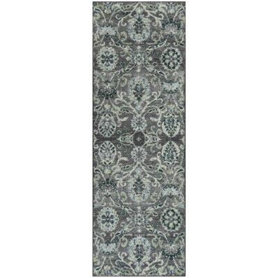 Kaycee Charcoal/Gray Area Rug Rug Size: Runner 2 x 6