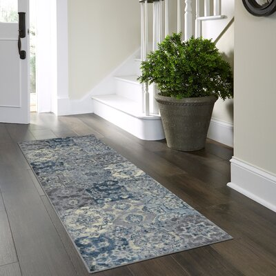Marshawn Navy Area Rug Rug Size: Runner 2 x 6